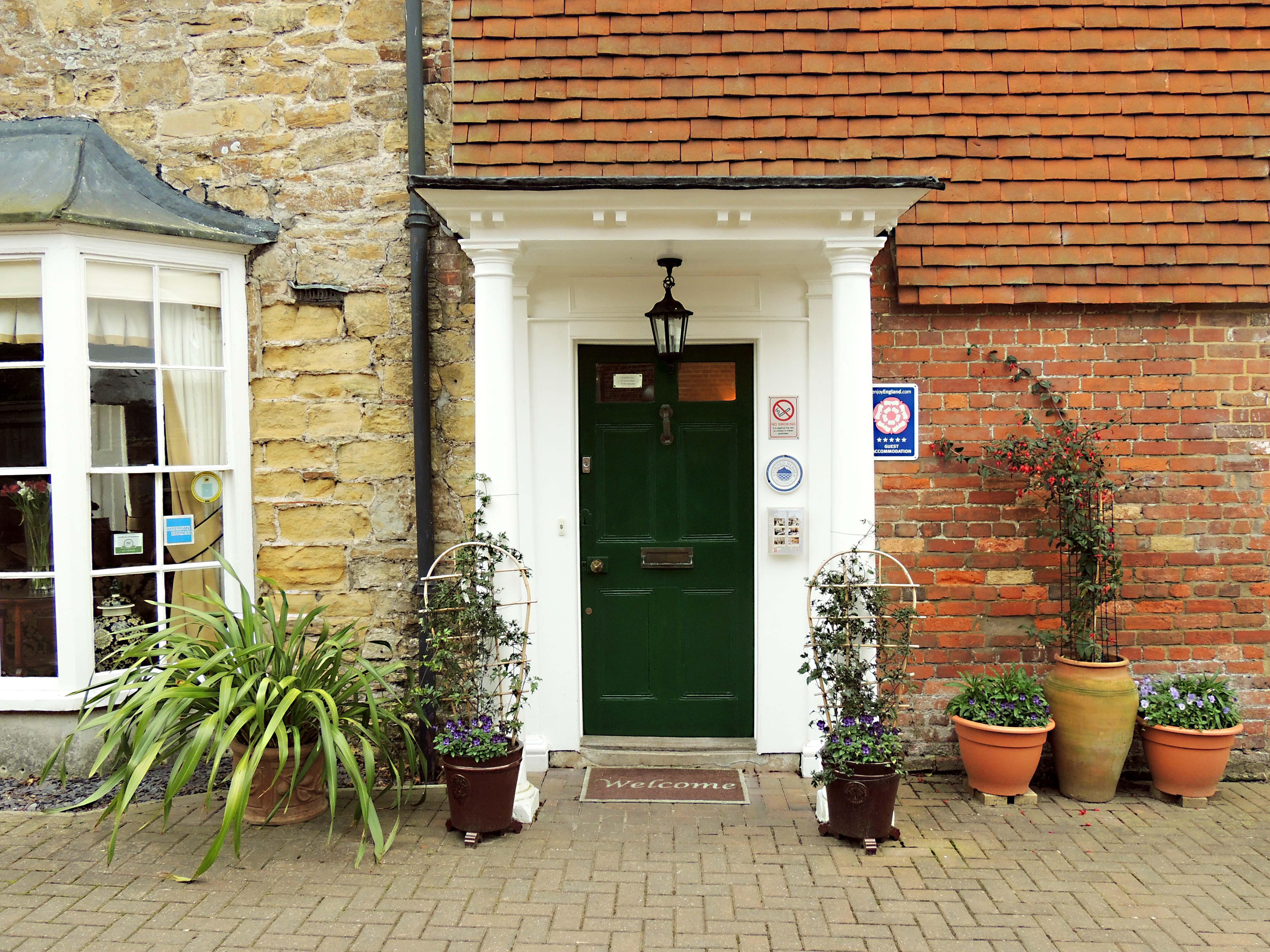 Willow tree house front door